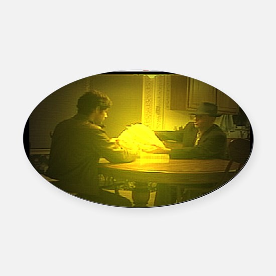 Captain Catholic - Passing on of t Oval Car Magnet