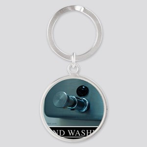 hand-washing-humor-infection-lg3 Round Keychain