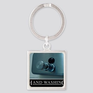 hand-washing-humor-infection-lg3 Square Keychain