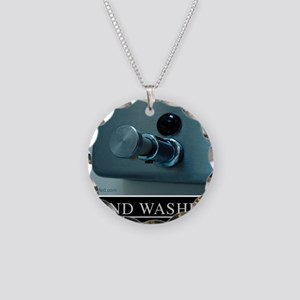 hand-washing-humor-infection Necklace Circle Charm