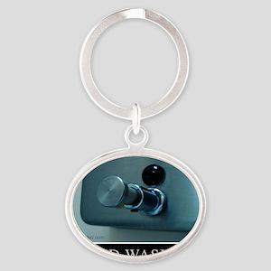 hand-washing-humor-infection-lg3 Oval Keychain