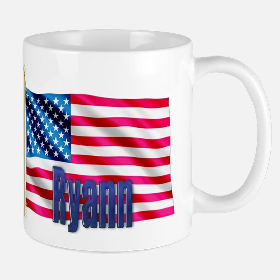 Ryann American Flag Gift Mug