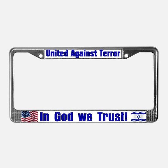 United against terror License Plate Frame