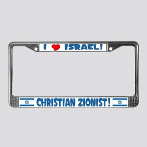 Christian Zionist License Plate Frame