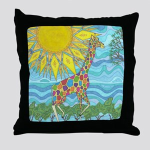 African Rainbow Throw Pillow