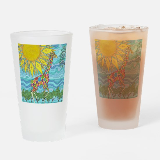 African Rainbow Drinking Glass