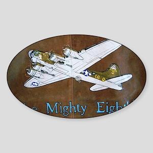 Queenie - 8th AF B-17 Sticker (Oval)