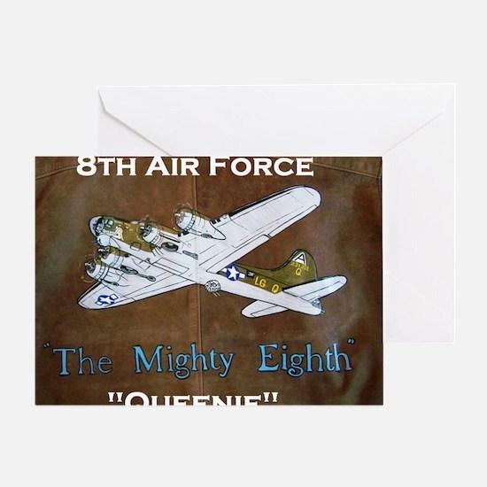Queenie - 8th AF B-17 Greeting Card