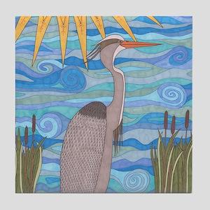 Great Blue Heron Tile Coaster