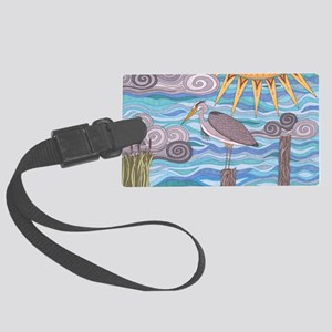 Herons Watch Large Luggage Tag