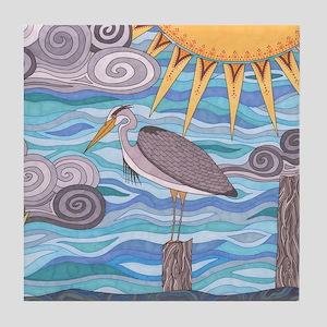 Herons Watch Tile Coaster