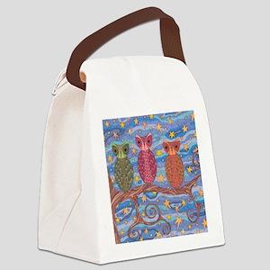 Night Rainbow Canvas Lunch Bag