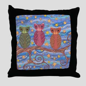 Night Rainbow Throw Pillow