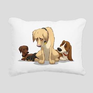 Sad Dogs Rectangular Canvas Pillow