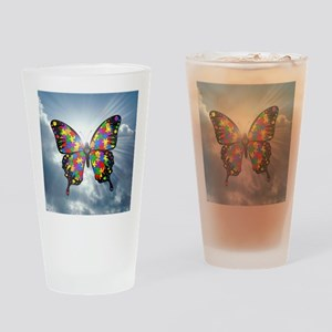 autismbutterfly - sky 6inch Drinking Glass