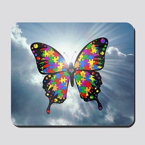 autismbutterfly - sky 6inch Mousepad