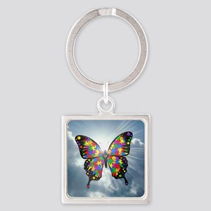 autismbutterfly - sky 6inch Square Keychain