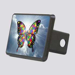 autismbutterfly - sky 6inc Rectangular Hitch Cover