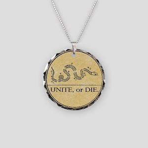 2-unite or die button 4 shop Necklace Circle Charm