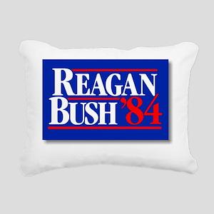 ART Reagan Bush 1984 Rectangular Canvas Pillow