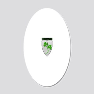 Clover Shield_Ireland 20x12 Oval Wall Decal