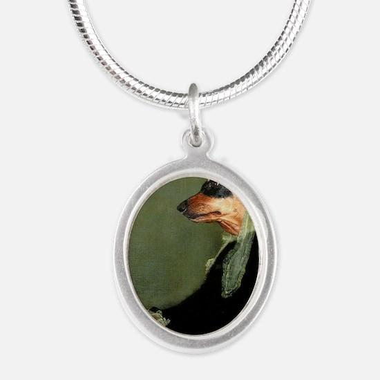 motherlily 16x16 Silver Oval Necklace