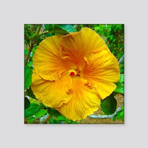 "Bermuda Hibiscus Square Sticker 3"" x 3"""