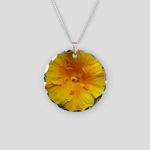 Bermuda Hibiscus Necklace Circle Charm