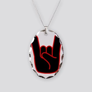 Devils Horns Necklace Oval Charm