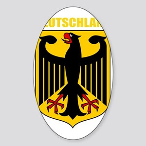 German Coat of Arms (finished)Gold Sticker (Oval)