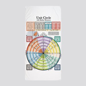 Unit Circle (with Radians) Beach Towel