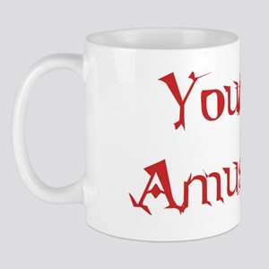 pain amuses red Mug