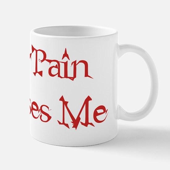 pain amuses red Mug