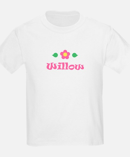 "Pink Daisy - ""Willow"" Kids T-Shirt"