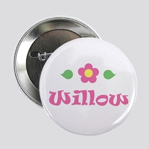 """Pink Daisy - """"Willow"""" Button"""