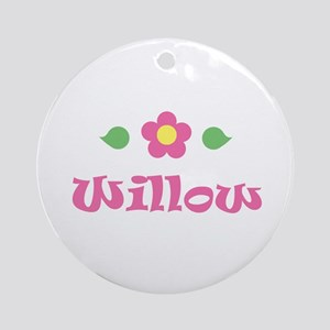 """Pink Daisy - """"Willow"""" Ornament (Round)"""