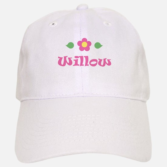 "Pink Daisy - ""Willow"" Baseball Baseball Cap"