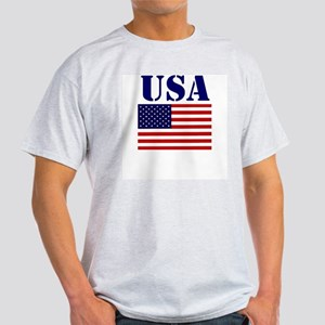 US Flag Shirts Ash Grey T-Shirt