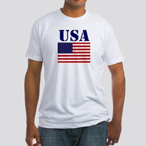 US Flag Shirts Fitted T-Shirt