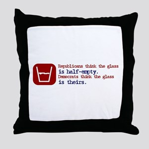 The Glass is Theirs Throw Pillow