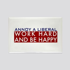 Annoy a Liberal Rectangle Magnet