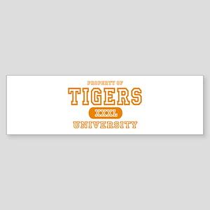 Tigers University Bumper Sticker