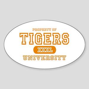 Tigers University Oval Sticker