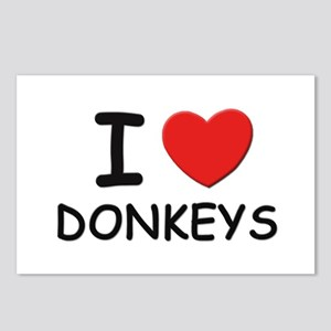 I love donkeys Postcards (Package of 8)