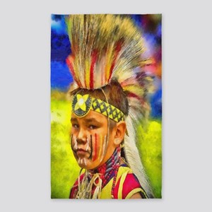 Serious Young Warrior 3'x5' Area Rug