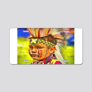 Serious Young Warrior Aluminum License Plate