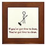 Time to Lean Framed Tile