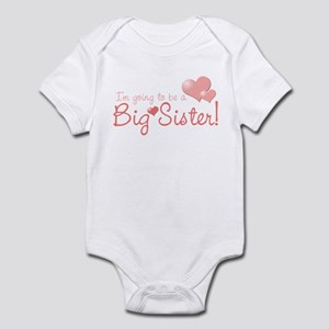 valentine's day big sister Infant Bodysuit