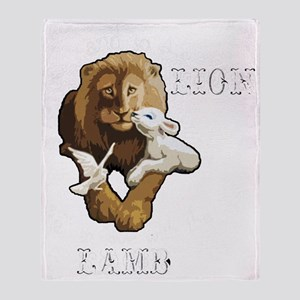 LionLambB Throw Blanket