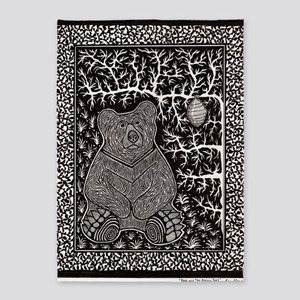 Bear and the Missing Bees-2 5'x7'Area Rug